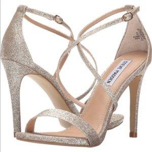 Steve Madden 4 inch gold glitter heels SZ 6.5
